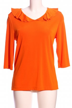 Citiknits Blouse à volants orange clair style d'affaires