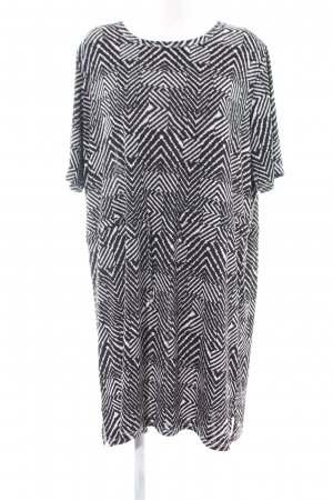 Citiknits Stretch Dress white-black allover print business style