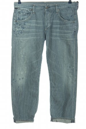 Citizens of Humanity 7/8 Jeans blau-weiß Streifenmuster Casual-Look