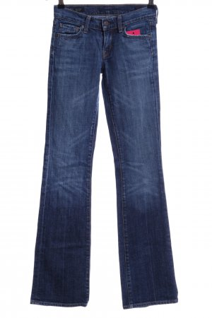 Citizens of Humanity Boot Cut Jeans blau Logo-Applikation
