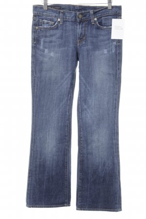 Citizens of Humanity Boot Cut Jeans stahlblau Stickereiverzierung
