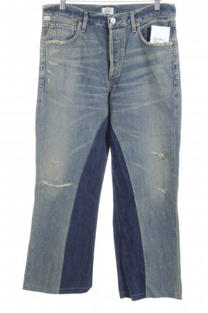 Citizens of Humanity Boot Cut Jeans stahlblau-himmelblau Vintage-Look