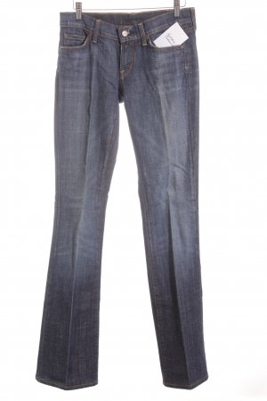 Citizens of Humanity Boot Cut Jeans weiß-dunkelblau meliert Logo-Applikation