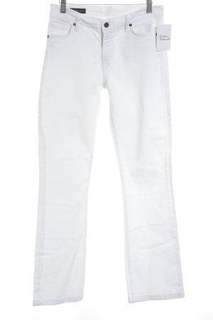 Citizens of Humanity Vaquero de corte bota blanco estilo sencillo
