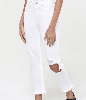 Citizens of Humanity Jeansy z prostymi nogawkami biały