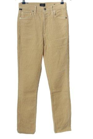 Citizens of Humanity Pantalone di velluto a coste bianco sporco stile casual