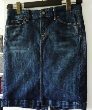 Citizens of Humanity Jupe en jeans bleu foncé-bleu coton