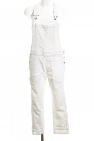 Citizens of Humanity Salopette denim bianco stile casual