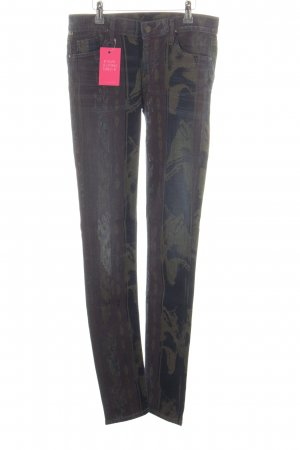 Citizens of Humanity Skinny Jeans blau-khaki abstraktes Muster Casual-Look