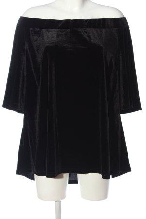 City Chic Bluzka z krótkim rękawem czarny W stylu casual