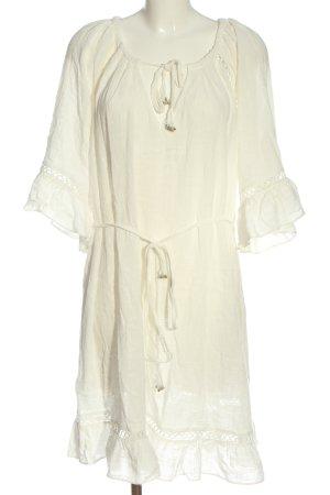 City Chic Sukienka z długim rękawem biały W stylu casual