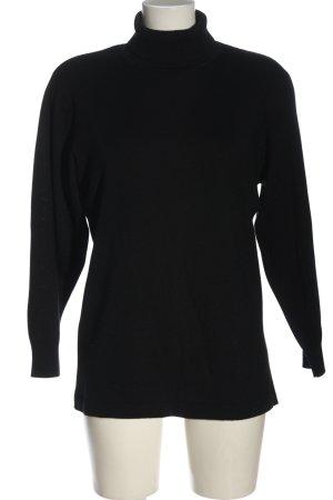 city combi Fine Knit Jumper black business style