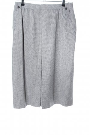 Falda de talle alto gris claro moteado estilo sencillo