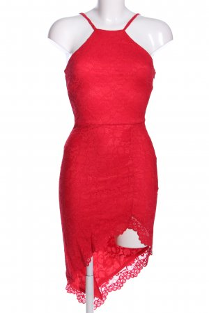 City Goddess Abito in pizzo rosso elegante