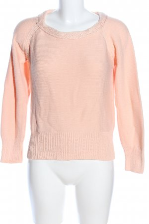 Strickpullover creme Zopfmuster Casual-Look