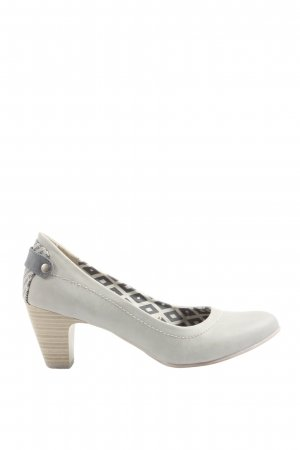 City line High-Front Pumps light grey-black printed lettering casual look