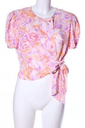 Wickel-Bluse Allover-Druck Business-Look