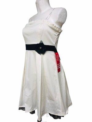 City Triangels Damen Kleid Weiß Schwarz M