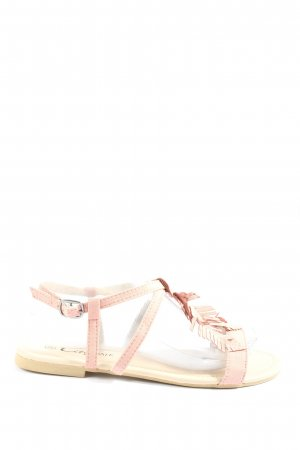 City Walk Komfort-Sandalen wollweiß-pink Casual-Look