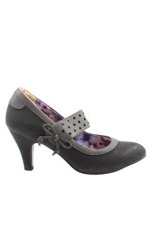 City Walk Escarpins Mary Jane noir-gris clair style décontracté