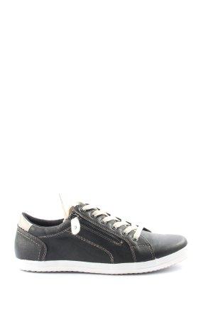 City Walk Sneaker stringata nero-bianco stile casual