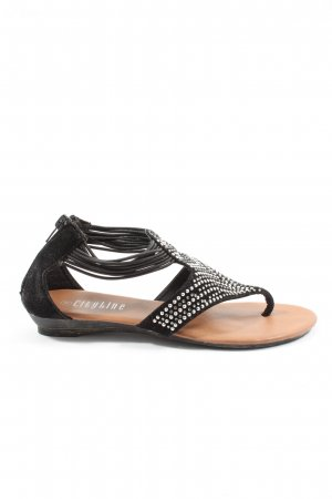 CityLine Dianette Sandals black-silver-colored casual look