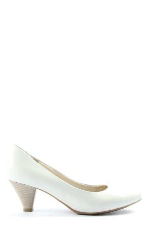 CityLine Buty z zabudowanym przodem biały W stylu casual