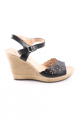 CityWalk Keil-Pumps schwarz-creme Casual-Look