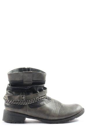 CityWalk Stivaletto con zip grigio chiaro-nero motivo animale stile casual