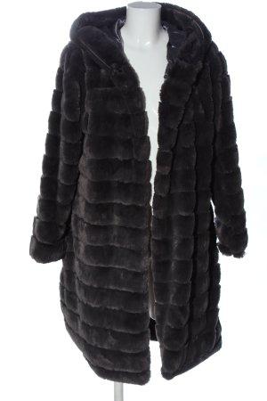 civico Pelliccia nero stile casual
