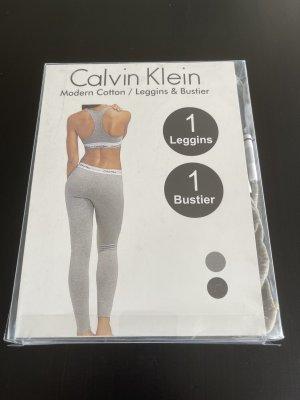 Calvin Klein Swimsuit silver-colored cotton