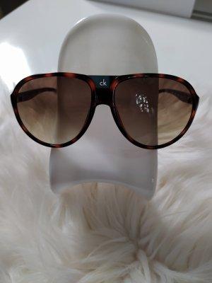 Calvin Klein Owalne okulary przeciwsłoneczne brązowy-ciemnobrązowy