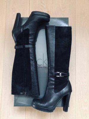 Calvin Klein Stivale con tacco nero Pelle