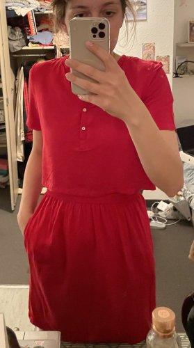 Calvin Klein Jeans Jurk met korte mouwen rood