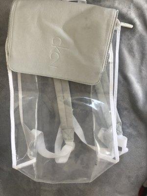 Calvin Klein Mochila escolar blanco-gris claro