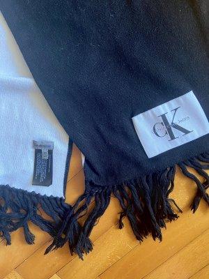 Calvin Klein Woolen Scarf black-white