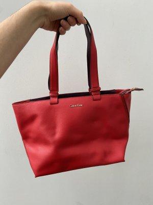 Calvin Klein Handtas rood-donkerpaars