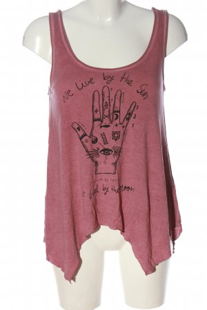 Ckh clockhouse A Line Top pink-black printed lettering casual look