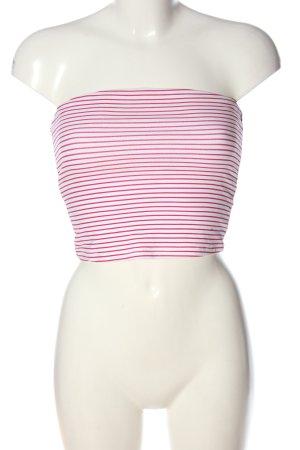 Ckh clockhouse Blusa sin espalda rosa-blanco look casual