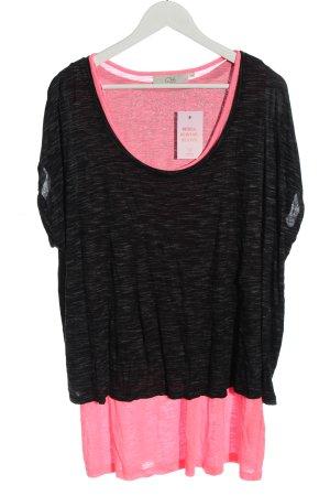 Ckh clockhouse Sports Shirt black-pink flecked casual look