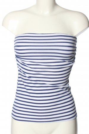 Ckh Off-The-Shoulder Top white-blue striped pattern casual look
