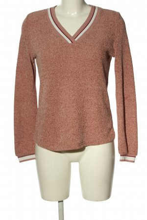 Ckh V-Neck Sweater red flecked casual look