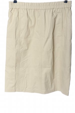cks Faux Leather Skirt natural white casual look