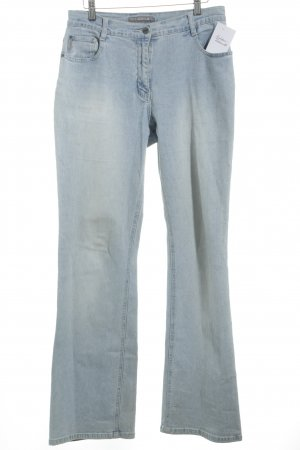 Claire.dk Denim Flares light blue-white jeans look