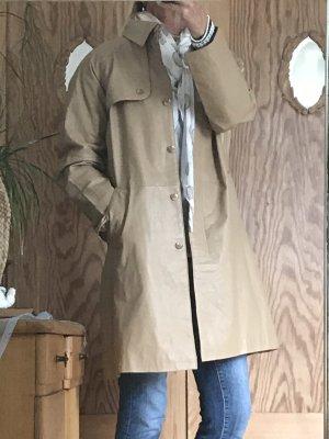 Claire.dk Cappotto in pelle color cammello-crema
