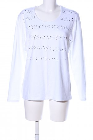 Claire.dk Longsleeve white themed print casual look