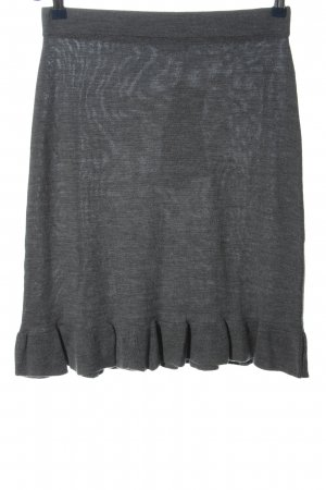 claire Wool Skirt light grey flecked casual look