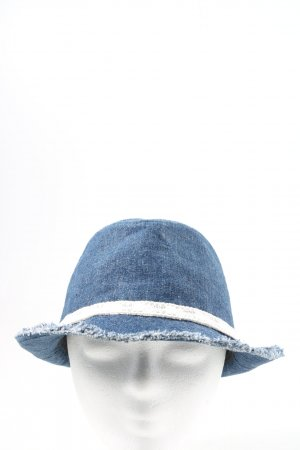 claire's Bucket Hat blue-white casual look
