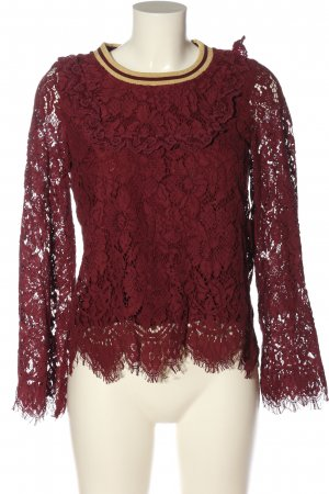 claire Lace Blouse red casual look