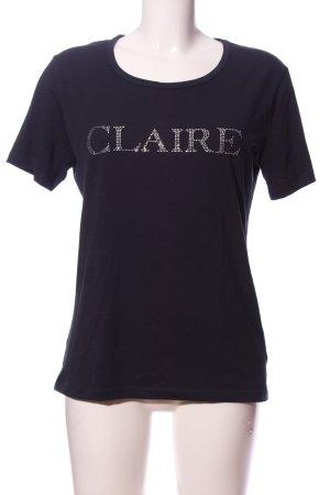 claire T-shirt nero stile casual